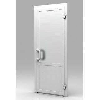 Пластиковая дверь из профиля WHS 72 Глухая 800x2000 без замка