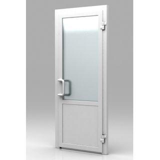 Пластиковая дверь из профиля WHS 60 Стекло-Глухая 800x2000 без замка