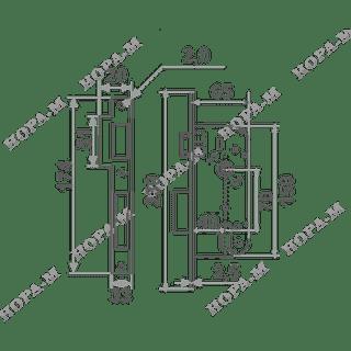 Корпус замка КЗВ-100  (70мм) Нора-М