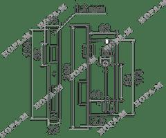 Корпус замка КЗВ-102  (85мм) 45мм Нора-М
