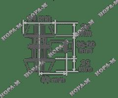 Замок врезной D2 ключ/ключ Нора-М